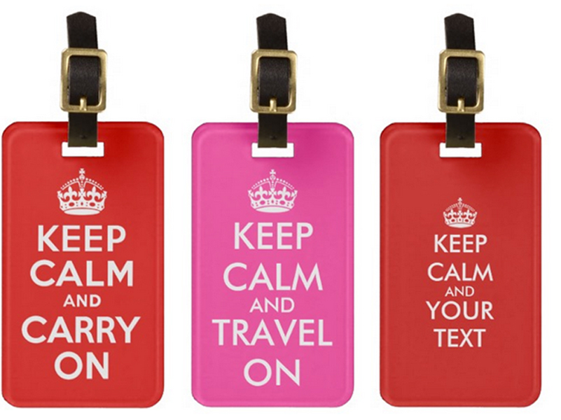 Keep Calm luggage tags