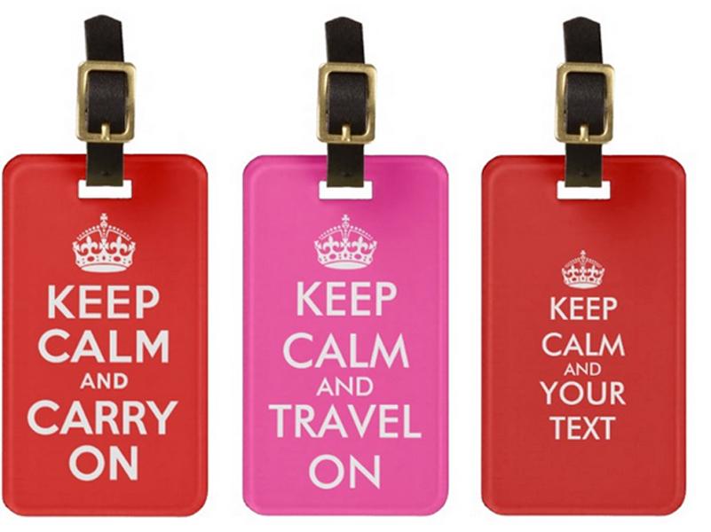 Keep Calm luggage tags