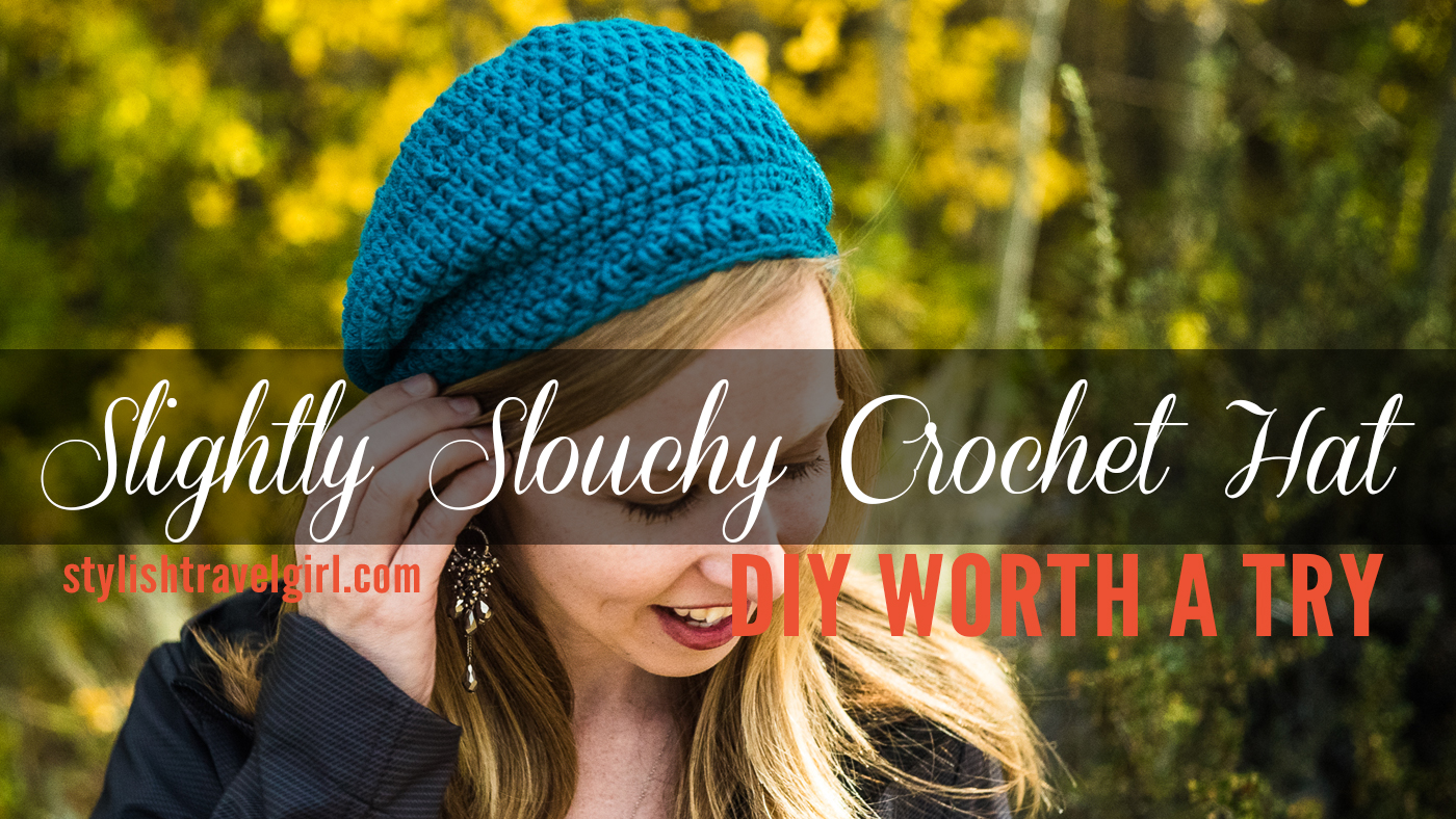 "DIY Worth A Try  Travel in Style with the ""Slightly Slouchy Crochet Hat""     via iheartstitching.com b438f1da0f3"