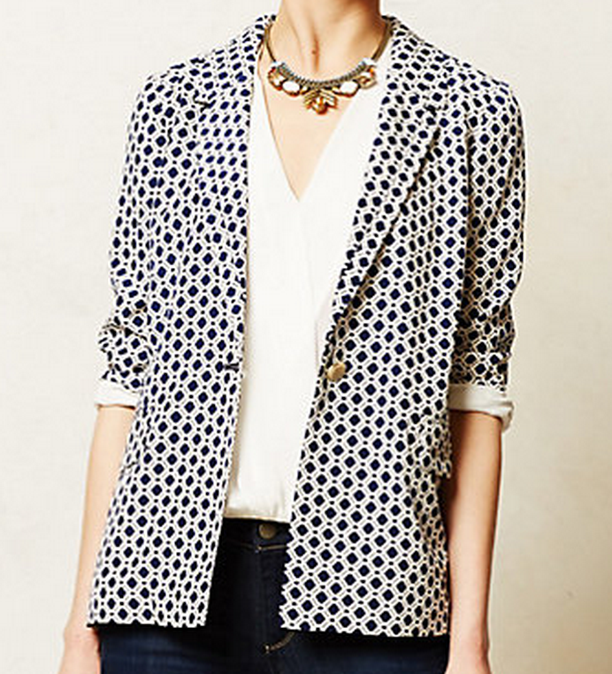 Southwark blazer from Anthropologie