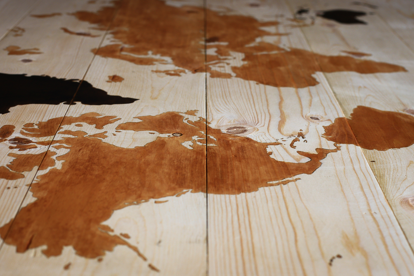 DIY Wooden World Travel Map on stylishtravelgirl.com