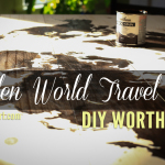 DIY Worth A Try: Display your travels beautifully on this wooden world travel map // via thehappierhomemaker.com