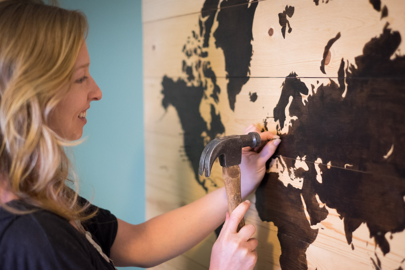 DIY Worth a Try: Wooden World Travel Map