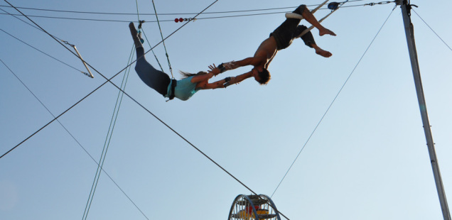 TSNY's trapeze school at the Santa Monica Pier