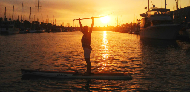 stand up paddleboarding in Marina del Rey with Pro SUP Shop