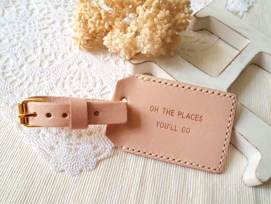 Nude Luggage Tag with Back Window by Harlex