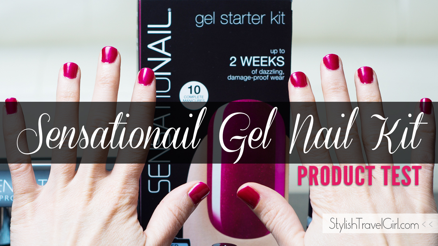 Sensationail Gel Starter At-Home Nail Kit Product Test on StylishTravelGirl.com
