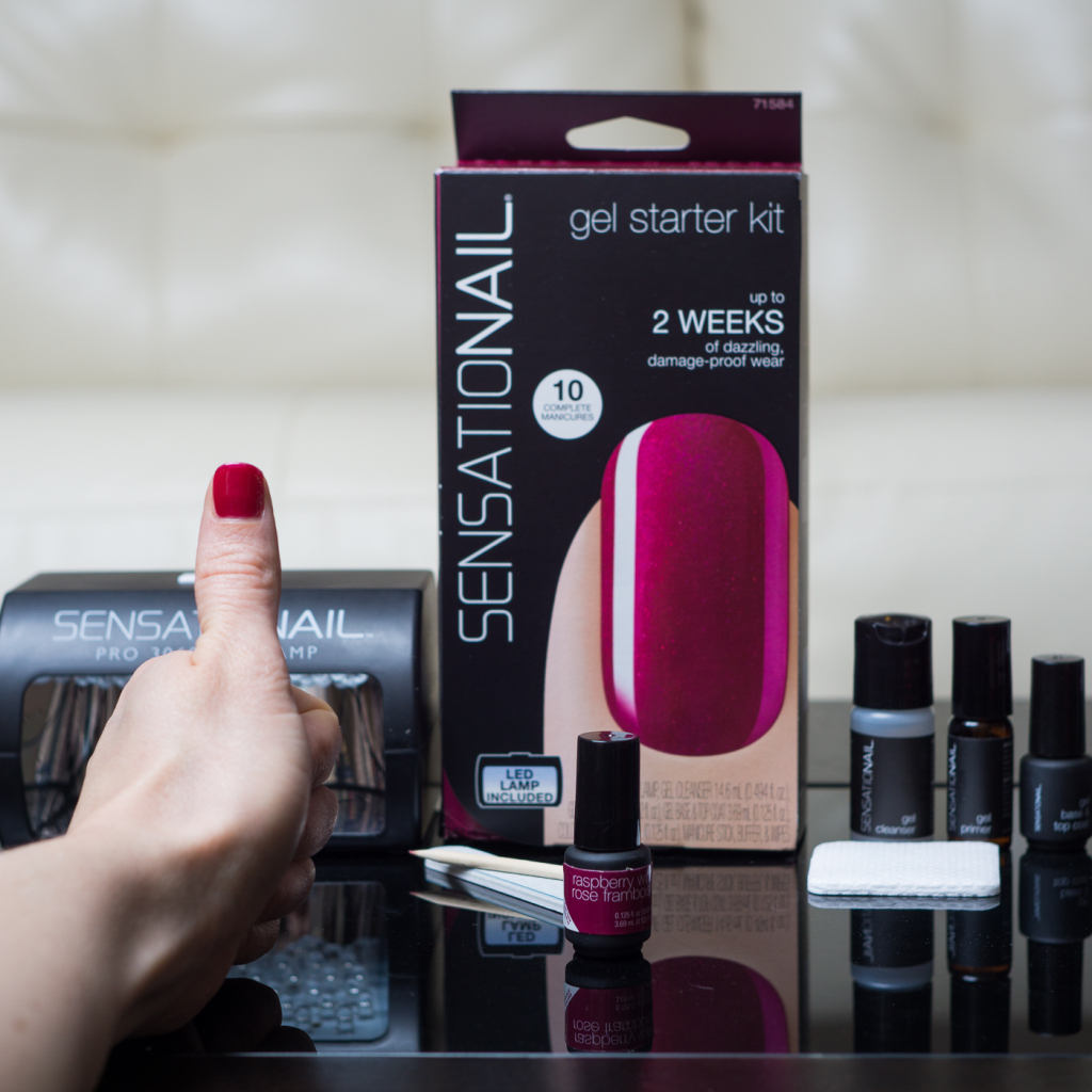 Sensationail gel starter kit application