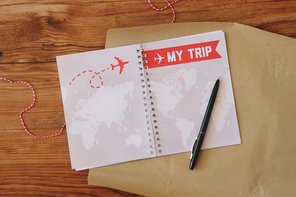 DIY printable world map travel journal