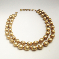 1960'S GOLDEN EGG DOUBLE STRAND CHOKER from Juniper & Lane