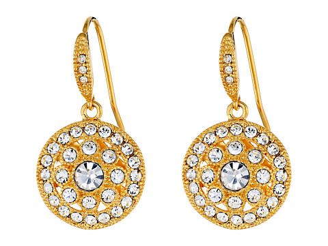 LAUREN by Ralph Lauren Napa Valley Vintage Pave Round Drop Earrings on Zappos.com