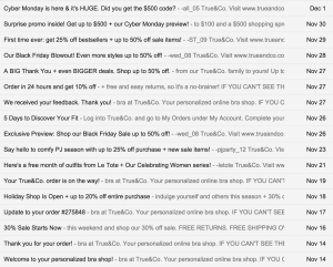 True&Co emails
