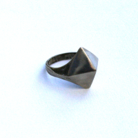 PYRAMID RING REPURPOSED METAL SIZE 7 from Juniper & Lane