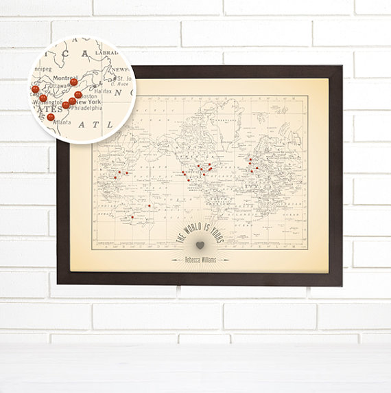 vintage wall map from wendygold on Etsy