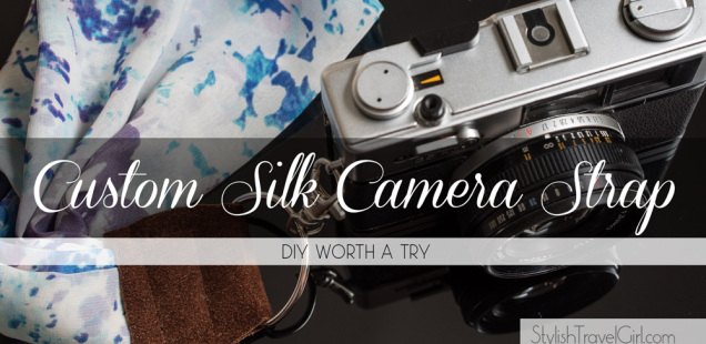 DIY Worth a Try: Custom Silk Scarf Camera Strap