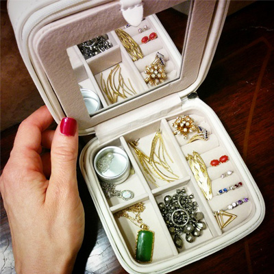 Mele and Co travel jewelry box organizer