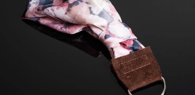 DIY silk scarf neck wrist strap