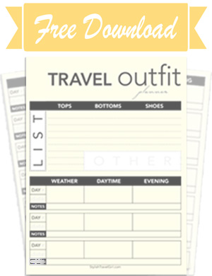 Get Your Free Travel Outfit Planner
