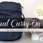 Minaal Carry-on Bag Review: a stylish solution for ugly backpack syndrome by Anna Ge of Slightly Astray