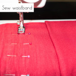 Step 7: Sew waistband