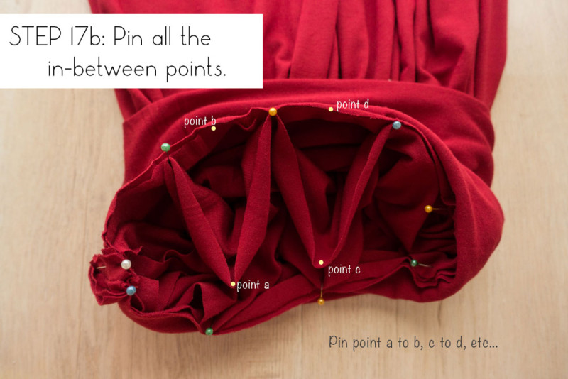Step 17b: Pin all the in-between points
