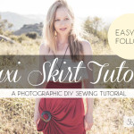 Easy Pleated Maxi Skirt DIY Sewing Tutorial on Stylish Travel Girl