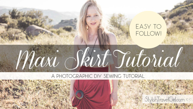 Easy Pleated Maxi Skirt DIY Tutorial
