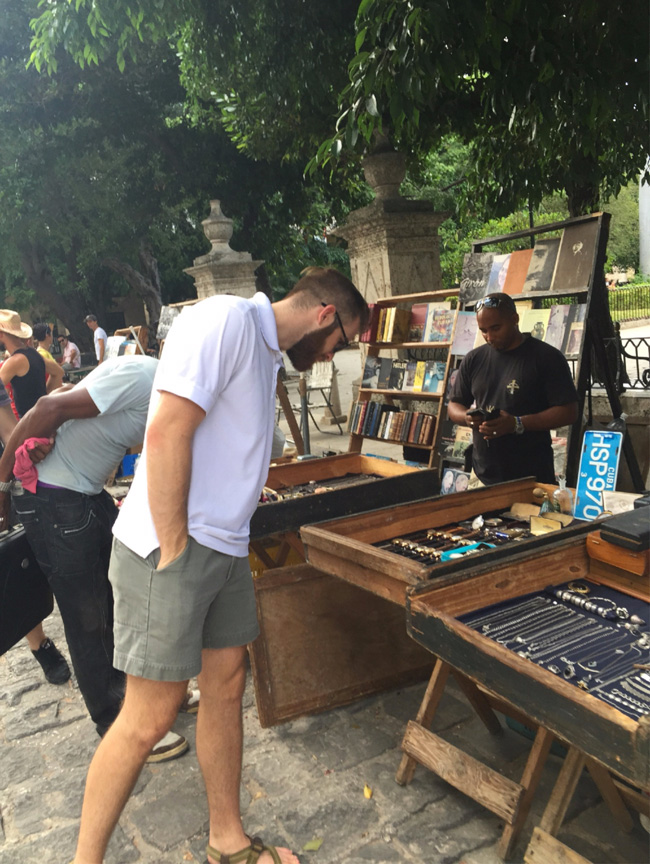 shopping for vintage watches in Havana, Cuba