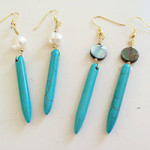 Left Coast Gypsy Turquoise Spike Earrings