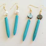 Left Coast Gypsy Turquoise Spike Earrings