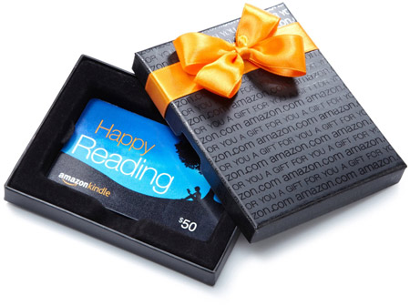 Give the Gift of Reading: Amazon Kindle Gift Card (free one-day shipping w/gift box) - amzn.to/1HQO8th