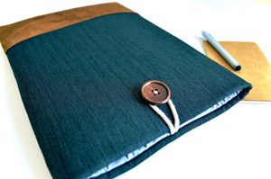 A stylish new home for her tablet or e-reader, handmade in Los Angeles: Bertie's Closet Kindle Sleeve - etsy.me/1Lj0zcc