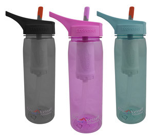 Stylish Travel Girl's Holiday Gift List: Eco Vessel Filtration Water Bottle || http:// bit.ly/1Mhasej