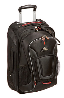 A more structured roller suitcase with backpack straps for versatile hauling options: High Sierra Wheeled Carry-on - bit.ly/1PFjUKS