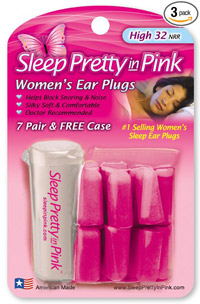 "She'll ""sleep pretty in pink"" with these hot pink women's foam ear plugs - amzn.to/1MLuzmn"
