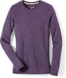 For an extra non-bulky layer of warmth on top: SmartWool Merino Wool Top (comes in black or purple) - bit.ly/1HC7w7W