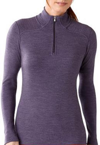 Stylish Travel Girl's Holiday Gift List: SmartWool Midweight Long Sleeve Merino Wool Zip-T Top || http://bit.ly/1MuhUnM