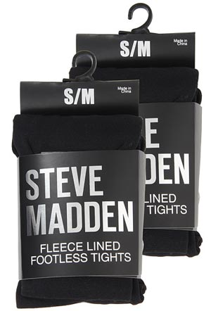 Surprisingly warm and non-bulky winter tights: Steve Madden Footless Fleece-Lined Tights - bit.ly/1GSjL5y
