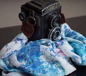 Stylish Travel Girl Silk Camera Neck Strap