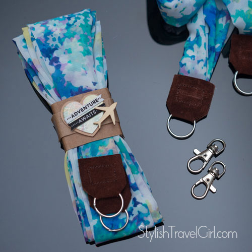 handmade luxury floral silk scarf camera wrist strap by Stylish Travel Girl