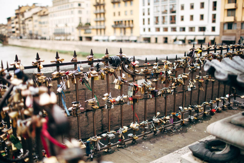 Love locks on Ponte Vecchio