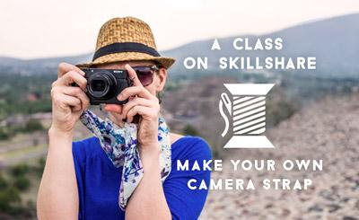 Skillshare DIY Scarf Camera Strap Class by Diana Southern