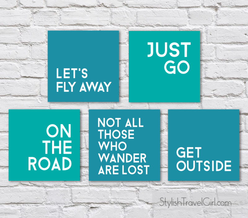 free travel quote printables by Stylish Travel Girl